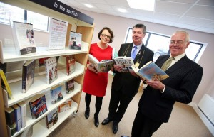 A photo of Catherine McKinnell MP, Lord Mayor Cllr George Pattison and Chair of Leazes Homes, Bill Midgley