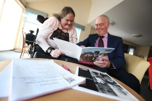 Claire Rabbetts with Bill Midgley, Chair of Leazes Homes